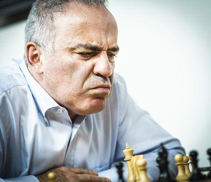 Gari Kaspárov, este miércoles, durante una de las partidas en San Luis