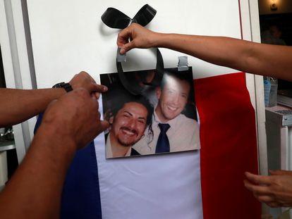 Empleados de Lormand le rinden homenaje a él y a su socio Orozco, ambos asesinados el pasado noviembre en Ciudad de México.
