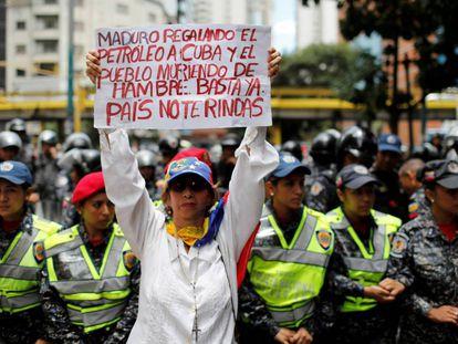 Protesta contra el presidente Maduro.