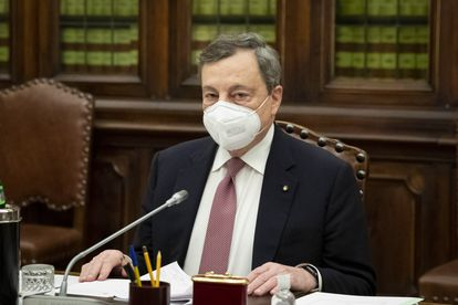 Mario Draghi, el  lunes en la Cámara de Diputados, en Roma.