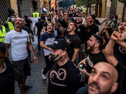 Manifestación de extrema derecha y neonazis este sábado en Madrid.