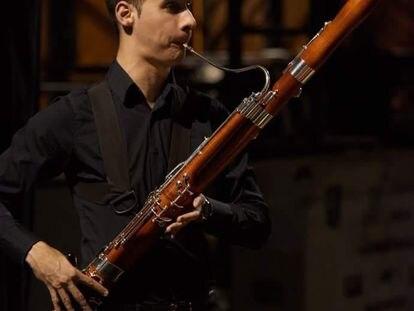 El fagotista Esteban García Vidal.