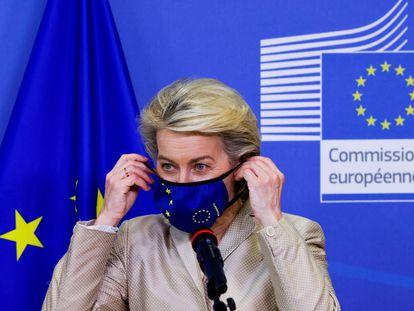 La presidenta de la Comision Europea, Ursula von der Leyen, en Bruselas el pasado 13 de julio.