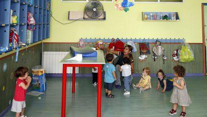 Niños en una guardería municipal de Barcelona.