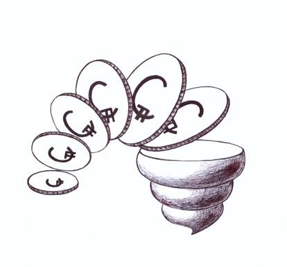 Una ilustración de las criptomonedas a base de excrementos.