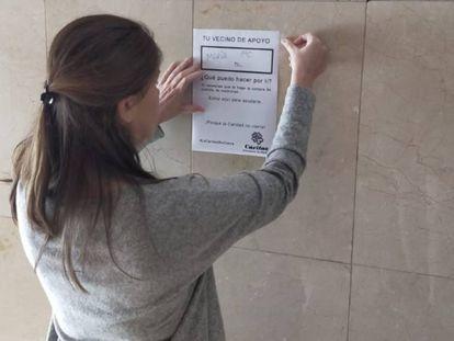 Campaña de Cáritas para reclutar vecinos solidarios.