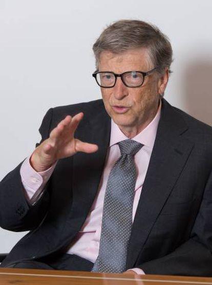 Bill Gates durante la entrevista en Londres.