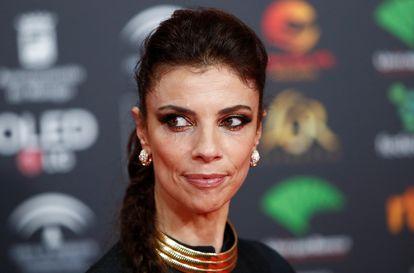 Maribel Verdú, en la alfombra roja de los Premios Goya de 2020, en Málaga.