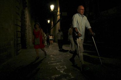 El secretario general de CiU y líder de Unió, Josep Antoni Duran Lleida, a su llegada anteayer al Palau de la Generalitat donde se reunió con Mas.