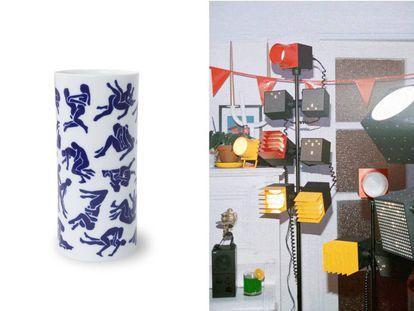 A la izquierda, jarrón Kamo-Sutra, de Viso Project. A la derecha, colección cápsula de Teenage Engineering para Ikea.