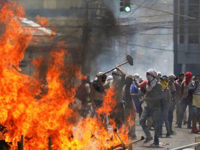 Las protestas en Tegucigalpa, Honduras.