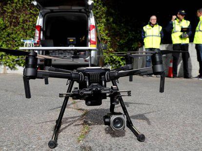 Un dron de la Guardia Civil.