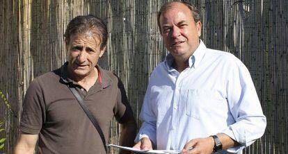 Escobar y Monago (a la derecha), antes de que este último fuera presidente, en junio de 2011.