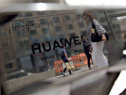 Anuncio de Huawei en Madrid.