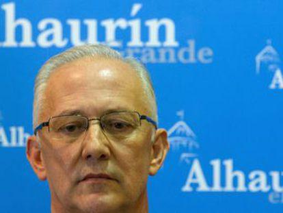El alcalde de Alhaurín el Grande, Juan Martín Serón, esta mañana.