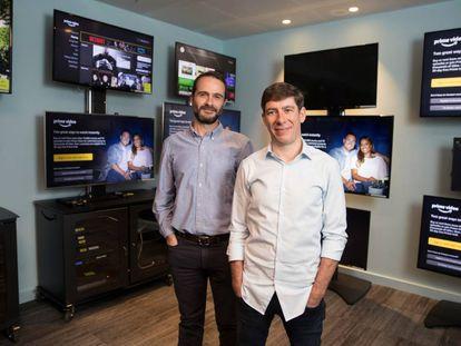 Tim Khon, vicepresidente tecnológico de Amazon Prime Video en Europa, y Jay Marine, vicepresidente de la compañía.