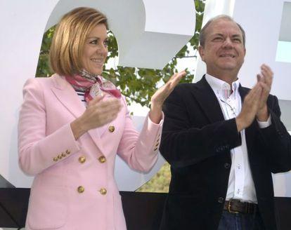 María Dolores de Cospedal y José Antonio Monago, en una foto de archivo