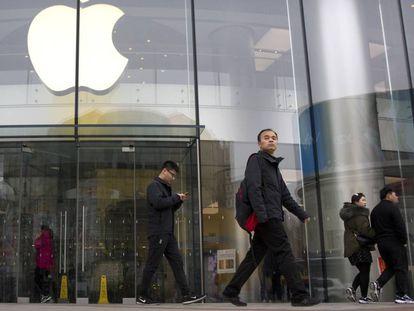 Tienda de Apple en Pekín (China).