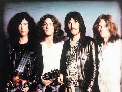 Led Zeppelin: de izquierda a derecha, Jimmy Page (guitarra), Robert Plant (voz), John Bonham (batería) y John Paul Jones (bajo).