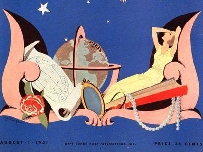 Ilustración de las predicciones de otoño de Vogue, publicadas en agosto de 1931.