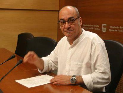 El diputado general de Gipuzkoa, Martin Garitano, en una imagen de archivo.