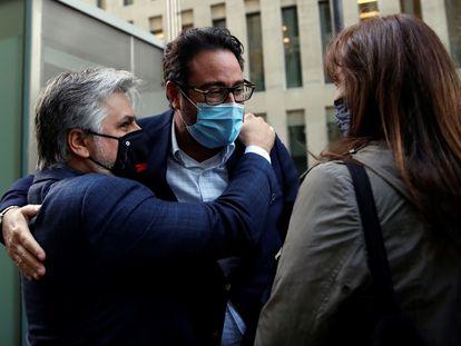 David Madí, al quedar en libertad tras ser detenido.