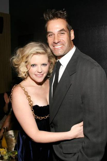 Natalie Maines junto al actor Adrian Pasdar, de quien se divorció en 2019, durante un evento celebrado en Nueva York en 2006.
