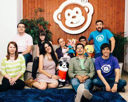 El equipo de Monkimun casi al completo en su sede en Madrid.