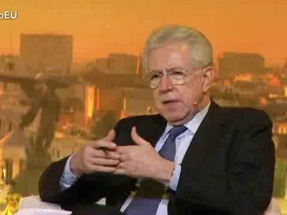 El ex primer ministro italiano Mario Monti, en Madrid.