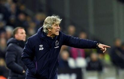 Pellegrini, en su último partido como entrenador del West Ham en el pasado mes de diciembre.