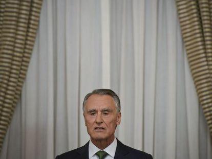 El presidente Cavaco Silva se dirige a la nación.