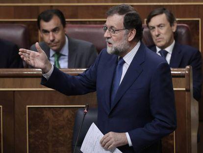 Mariano Rajoy, durante su intervención en el pleno.