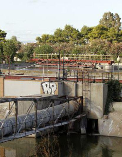 Instalaciones de la depuradora de Pinedo.