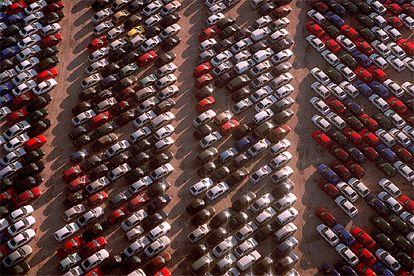 Depósito de vehículos en Madrid, una de las principales fuentes de exportación en España.