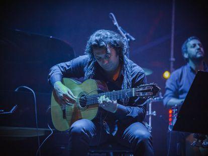 El guitarrista Josemi Carmona, en la actuación de 'OK World' en Oslo.