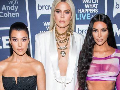 Kourtney Kardashian, Khloe Kardashian y Kim Kardashian.