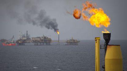 Instalaciones de Pemex en el Golfo de México.