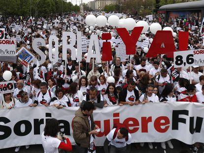 La manifestación 'la España vaciada', en imágenes