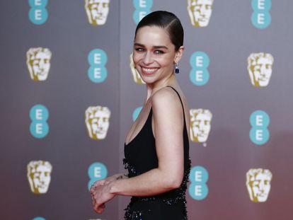 Emilia Clarke, en los premios BAFTA, en Londres, el pasado febrero.