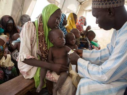 La clínica de Unicef en el campo de desplazados internos de Dikwa, en Nigeria.