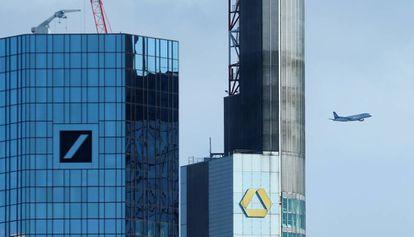 Sede de Deutsche Bank y Commerzbank en Fráncfort.
