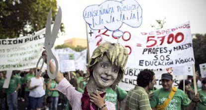 Una manifestación contra los recortes en educación en Madrid el pasado octubre.