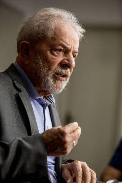 Lula Da Silva durante la entrevista.