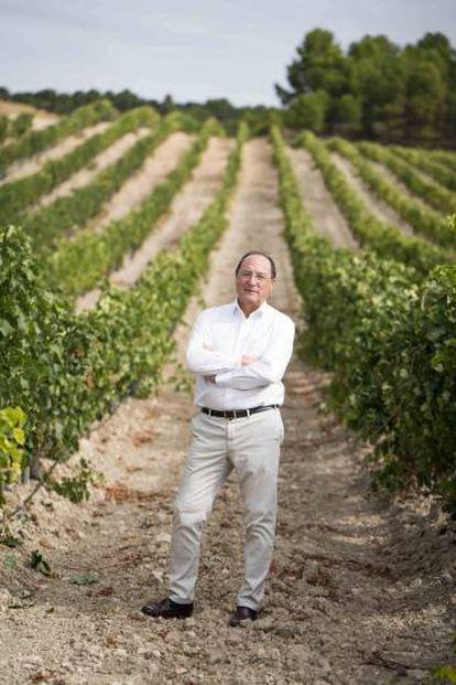 Carlos Moro, en una de sus parcelas en la Rioja Alta.