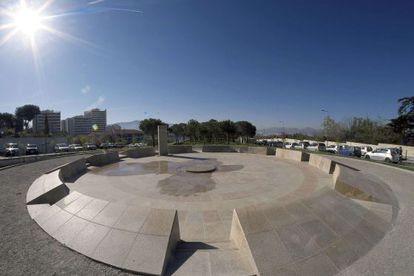 Vista general de un memorial recordando el genocidio armenio en la ciudad de Marsella, Francia, el pasado martes.