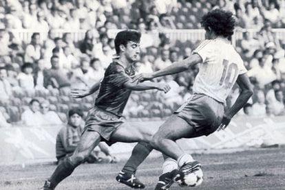 Juveniles del Barcelona y Zaragoza compiten durante la huelga de 1984.