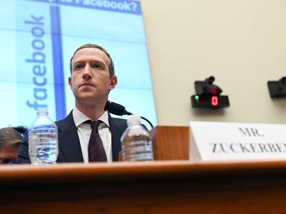 El fundador de Facebook, Mark Zuckerberg, en el Congreso de Estados Unidos en octubre de 2019.
