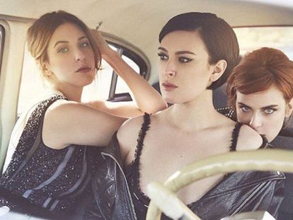 De izquierda a derecha, Tallulah, Rumer y Scout Willis en la foto criticada por la hija mayor de Bruce Willis y Demi Moore en Instagram.