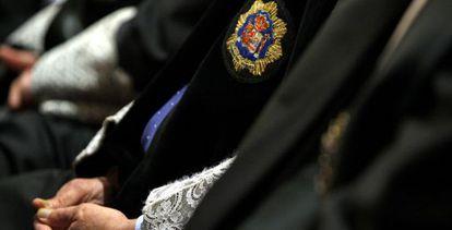 Magistrados con sus togas en una toma de posesión del Supremo.