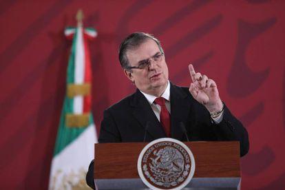 Marcelo Ebrard, en la rueda presidencial diaria este lunes en Ciudad de México